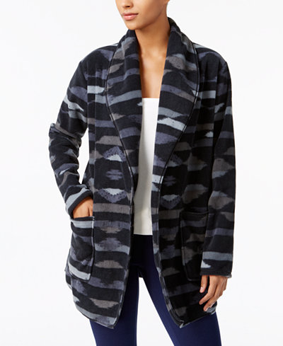 Columbia Benton Springs Printed Open-Front Fleece Cardigan