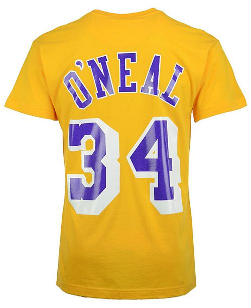 9b2d95224937 ... Mitchell   Ness Men s Shaquille O Neal Los Angeles Lakers Hardwood  Classic ...