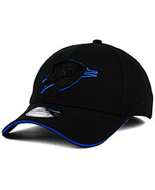 New Era Oklahoma City Thunder Black Pop 39THIRTY Cap