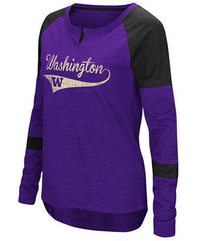 Colosseum Women's Washington Huskies Routine Long Sleeve T-Shirt