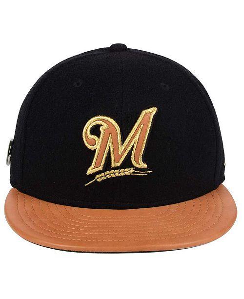 online retailer 9fd86 a0b7b ... where can i buy new era milwaukee brewers x wilson metallic 59fifty fitted  cap sports fan