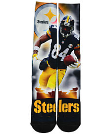 For Bare Feet Antonio Brown Pittsburgh Steelers City Star Player Crew Socks