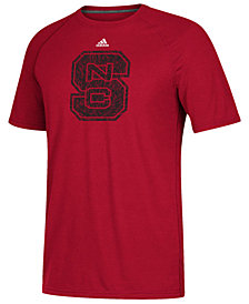 adidas Men's North Carolina State Wolfpack White Noise Logo T-Shirt