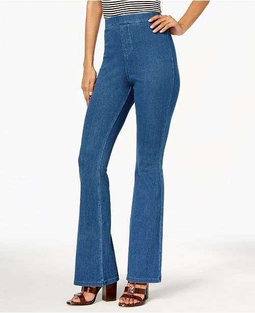 330107e142ff5 Hue Women's High-Waisted Denim Flare Leggings & Reviews - Handbags ...