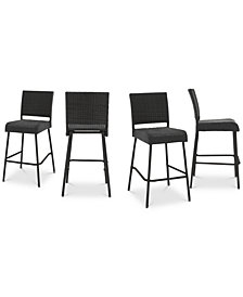 Aldin Bar Stool (Set of 4), Quick Ship