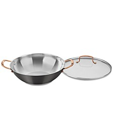 Onyx Black & Rose Gold All-Purpose Pan & Lid, Created for Macy's