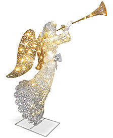 "National Tree Company 48"" Crystal Trumpeting Angel"
