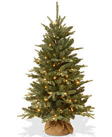 National Tree Company 4' Feel Real® Burlap Tree With 150 Clear Lights