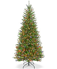 6.5' Dunhill® Fir Slim Tree With 500 Multicolor Lights