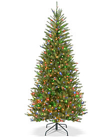 National Tree Company 6.5' Dunhill® Fir Slim Tree With 500 Multicolor Lights