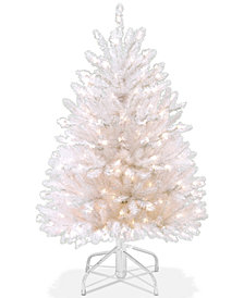National Tree Company 4.5' Dunhill® White Fir Tree With 450 Clear Lights