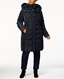 Cole Haan Signature Plus Size Layered Down Puffer Coat