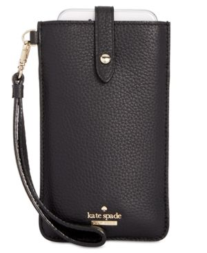 Kate Spade New York Pebbled-Leather Iphone Sleeve, Black