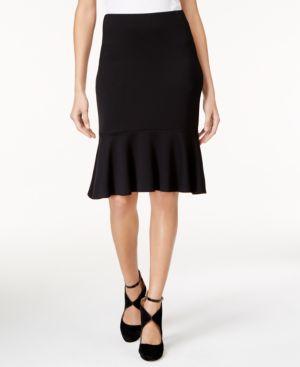 Trina Turk Alina Ponte Knit Ruffled Skirt thumbnail