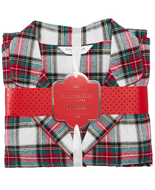 22ffcced27 Charter Club Petite Printed Cotton Flannel Pajama Set