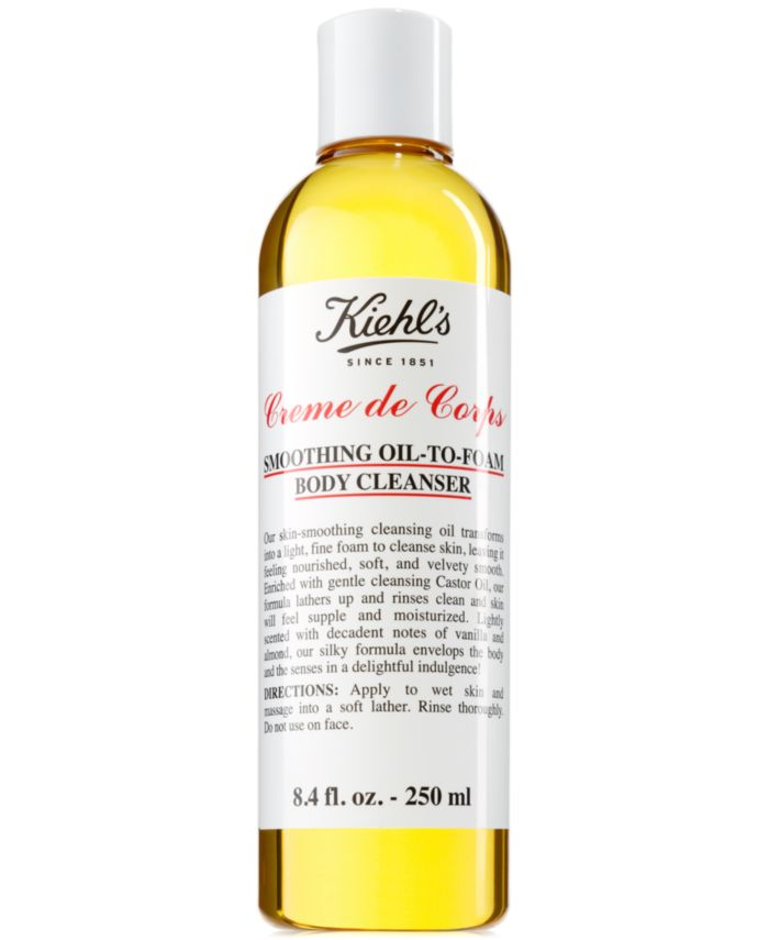 Kiehl's Since 1851 Creme de Corps Smoothing Oil-To-Foam Body Cleanser, 8.4-oz. & Reviews - Skin Care - Beauty - Macy's