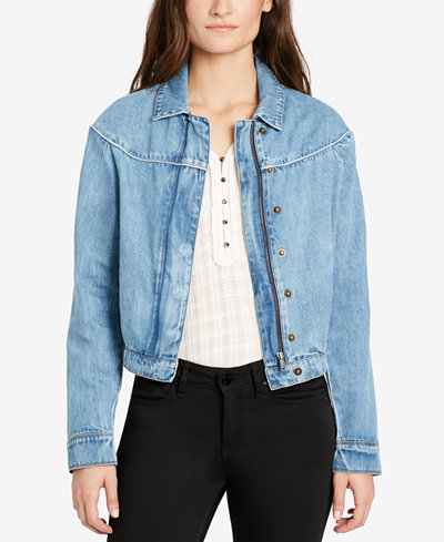 WILLIAM RAST Cotton Denim Jacket - Jackets - Women - Macy's