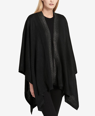 Calvin Klein Studded Knit Cape