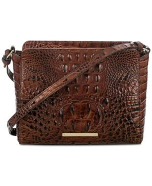 Image of Brahmin Carrie Melbourne Embossed Leather Crossbody