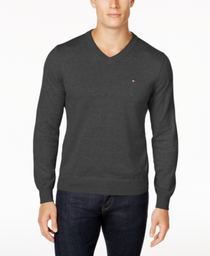 Tommy Hilfiger Men's Big & Tall V-Neck Cotton Sweater