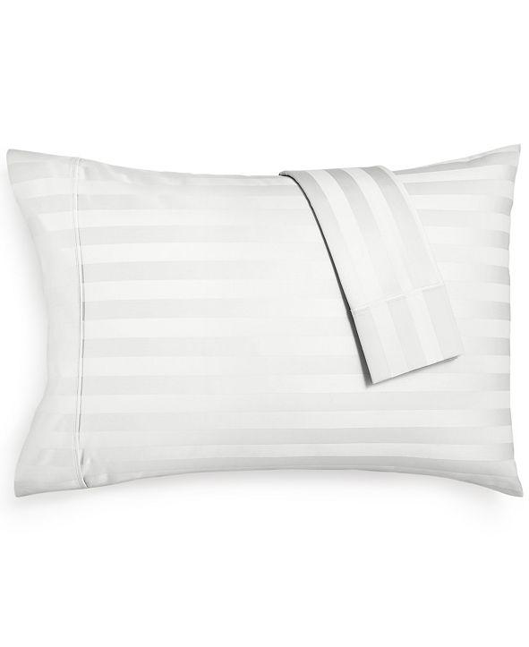 AQ Textiles Bergen Stripe Standard Pillowcases, 1000 Thread Count 100% Certified Egyptian Cotton