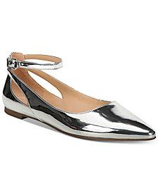 Franco Sarto Sylvia Ankle-Strap Flats