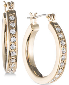 Ivanka Trump Gold-Tone Pavé Hoop Earrings
