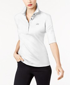 Lacoste Long Sleeve Slim Fit Stretch Pique Polo Shirt