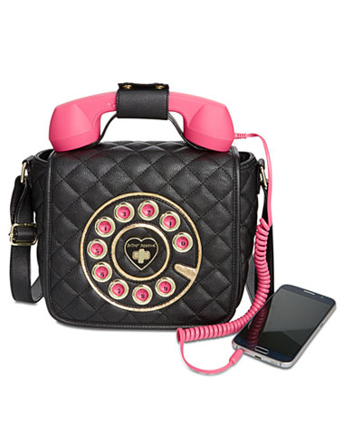 Betsey Johnson Small Quilted Phone Crossbody, Created for Macy's