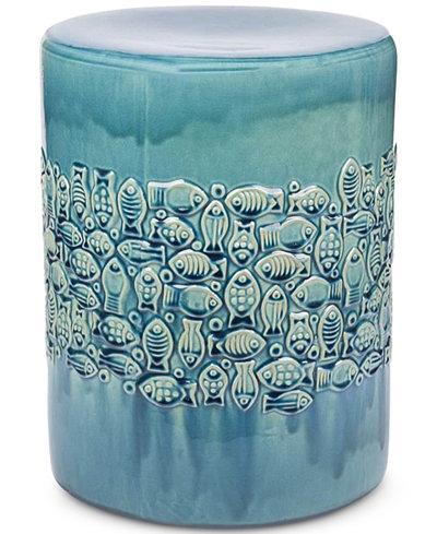 Beau Ceramic Garden Stool, Quick Ship