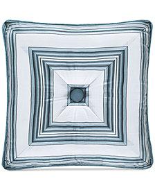"""J Queen New York Atrium Tufted 18"""" Square Decorative Pillow"""