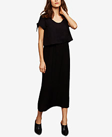 A Pea In The Pod Maternity Tiered Midi Dress
