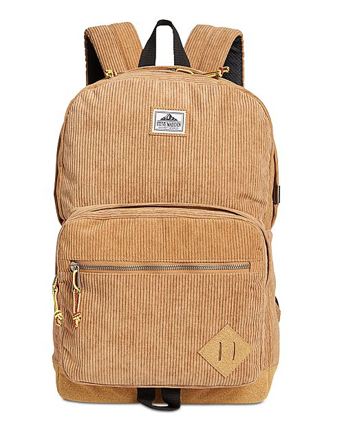 f8c5e283b4 Steve Madden Men's Corduroy Backpack; Steve Madden Men's Corduroy Backpack  ...