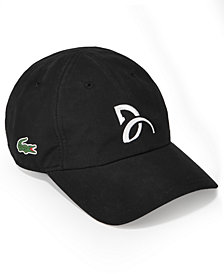 Lacoste Collection For Novak Djokovic Men's Signature Ultra Dry Cap, Created for Macy's