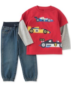 Kids Headquarters 2Pc Race Car Shirt  Pants Set Toddler Boys (2T5T)