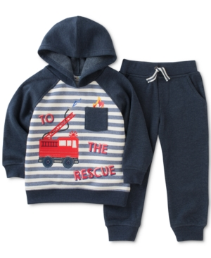 Kids Headquarters 2Pc Hoodie Sweatshirt  Jogger Pants Set Toddler Boys (2T5T)