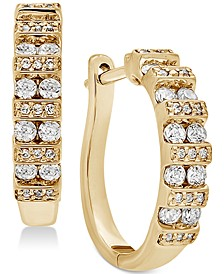 Diamond Hoop Earrings (1/2 ct. t.w.) in 14K Gold or White Gold