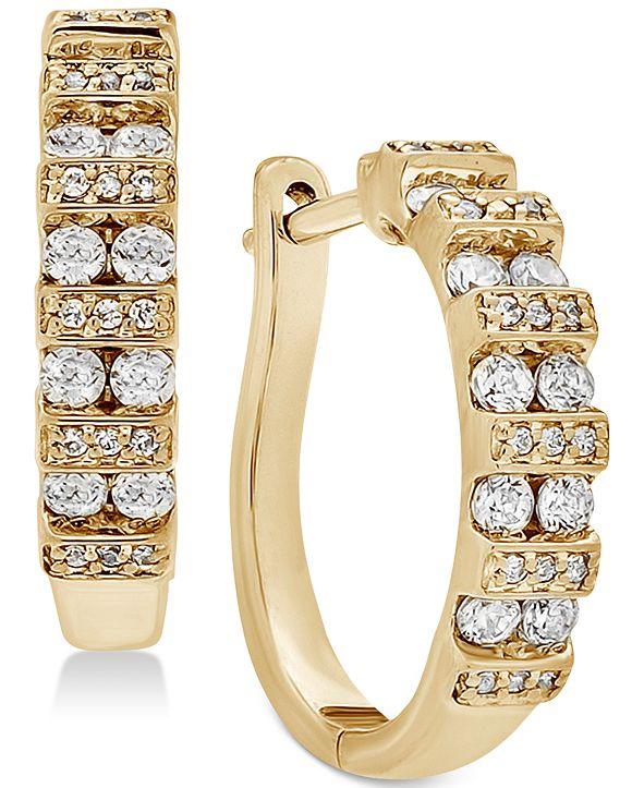 Macy's Diamond Hoop Earrings (1/2 ct. t.w.) in 14K Gold or White Gold