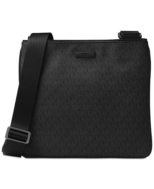 223b0cc5817c Michael Kors Men's Logo-Print Crossbody Bag & Reviews - All ...