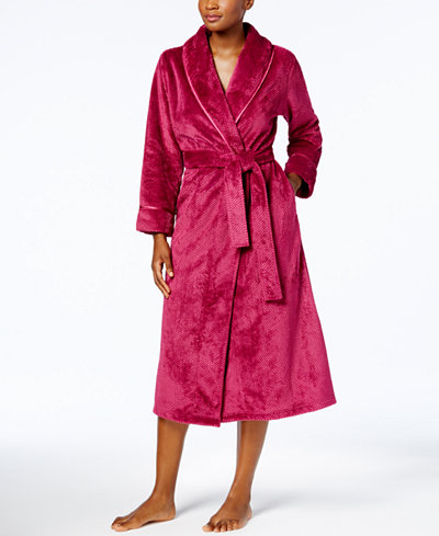 Charter Club Long Dimple Shawl Robe, Created for Macy's