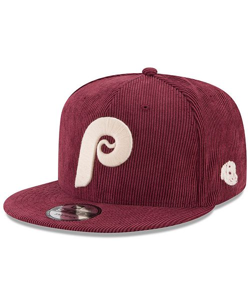 ... New Era Philadelphia Phillies All Cooperstown Corduroy 9FIFTY Snapback  Cap ... a6899630674