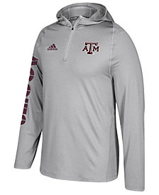 adidas Men's Texas A&M Aggies Sideline Quarter-Zip Training Hoodie