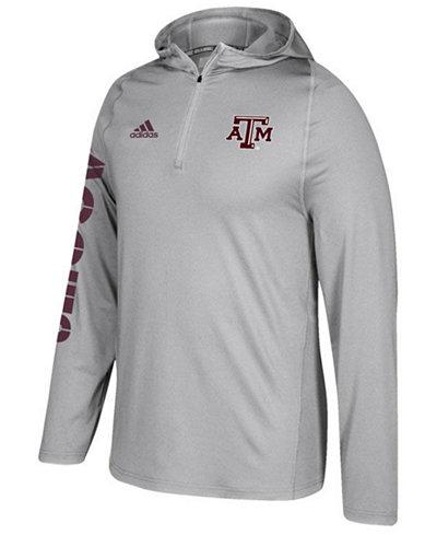 adidas Men's Texas A&M Aggies Sideline Quarter-Zip Training Hoodie