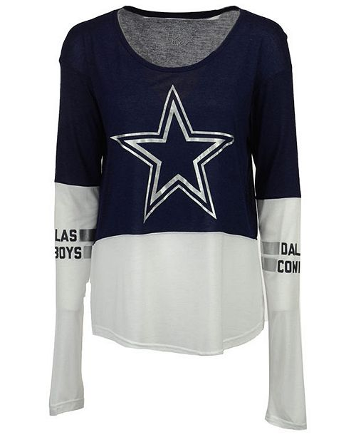 ... Authentic NFL Apparel Women s Dallas Cowboys Audrey Long Sleeve T- ... 3a197321f2