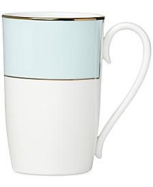 Lenox Pleated Colors Aqua Mug