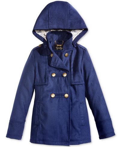 Jessica Simpson Hooded Military Coat, Big Girls (7-16) - Coats ...