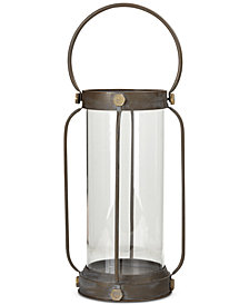 Madison Park Hawthrone Iron/Glass Lantern, Large