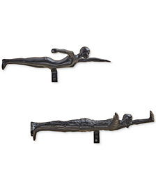 INK+IVY Dive Brass Swimmers Decor, Set of 4