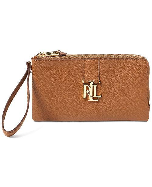 Lauren Ralph Lauren Double-Zip Wristlet - Handbags   Accessories ... cc087a23b0c98