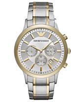 5c09270e40149 Emporio Armani Men s Chronograph Two-Tone Stainless Steel Bracelet Watch  43mm